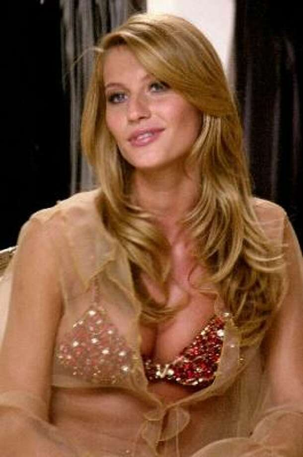 """It wasn't Victoria's Secret's first """"fantasy"""" bra. In 2000, Gisele Bundchen modeled the jeweled Fantasy bra, which was encrusted with Thai rubies, diamonds and semiprecious stones. Photo: AP"""