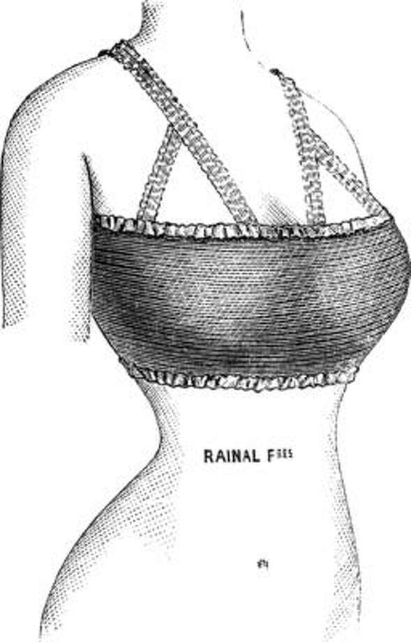 "Quite a difference from how short 'corsets' were marketed in 1900. The inventors of this one claimed ""The bra is for people who can dispense with the use of the corset. It is also used for the night, for the seaside bathing or in cases of extreme breast tenderness. "" Photo: Wikimedia"