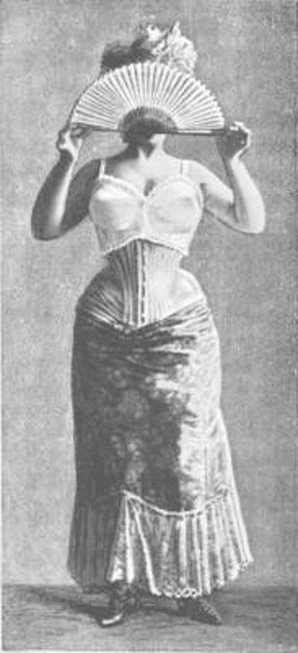 Of course the corset most people are familiar with accentuated not just the bustline, but the waist. Photo: Wikimedia