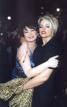 Roseanne, left, and Smith at the Spring/Summer Lane Bryant Lingerie Fashion Show in New York City in 2001. Photo: PRN