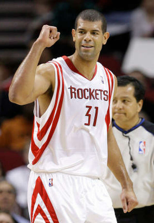 No. 31 Shane Battier Pos.:F |Height/weight: 6-8/220| School: Duke| Years in league: 9  Battier's role this season will be to guard the opponents' best shooters. Photo: Melissa Phillip, Chronicle