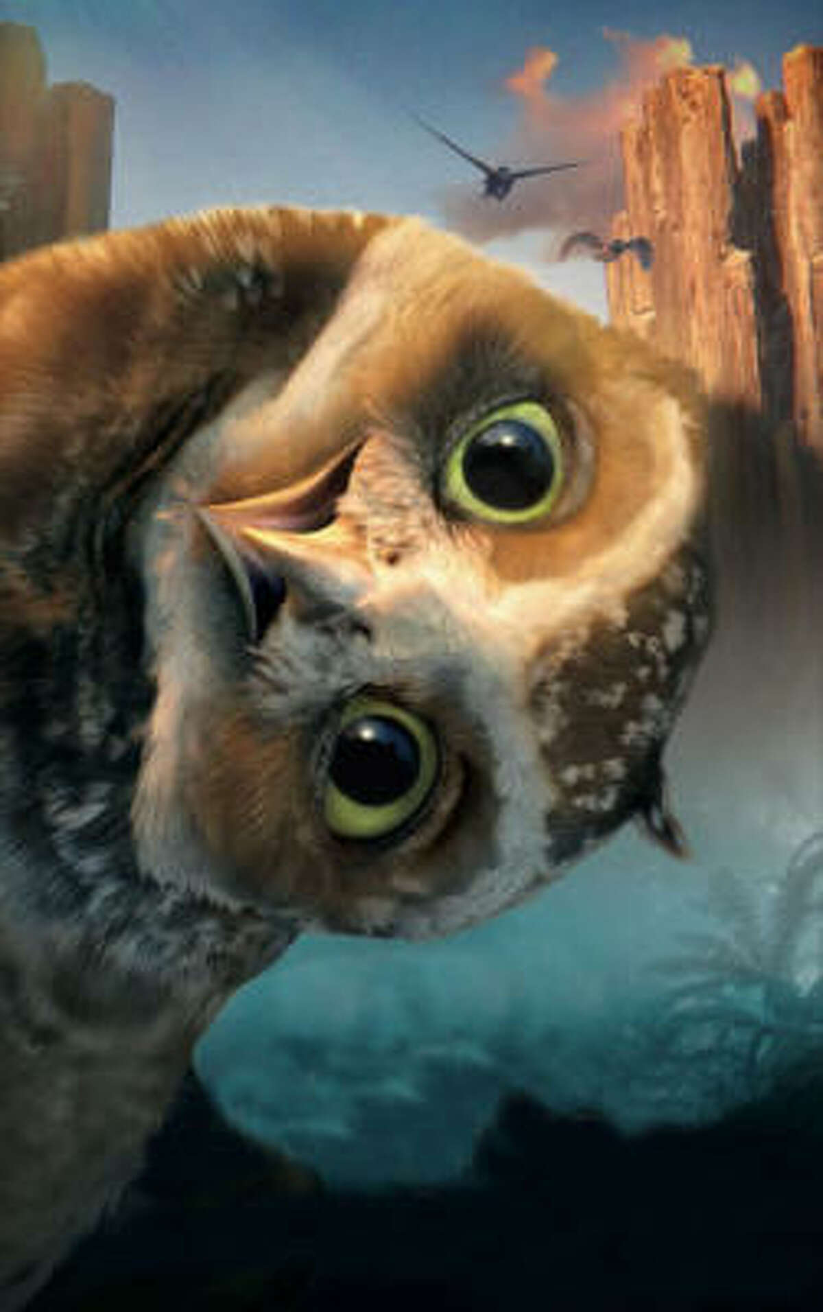 Legend of the Guardians: The Owls of Ga'Hoole , $3.2 million: A family of owls battle evil owls in this animated feature.