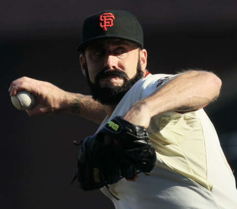 Giants closer Brian Wilson recorded his fourth save of the postseason. Photo: Jeff Chiu, AP