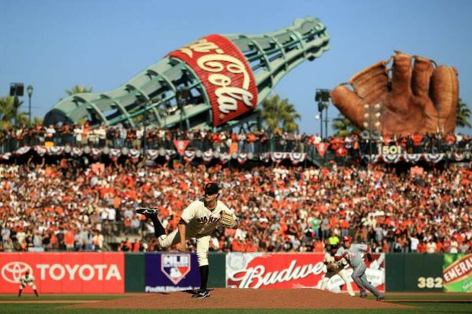 Matt Cain allowed just two hits in seven innings on Tuesday. Photo: Ezra Shaw, Getty Images