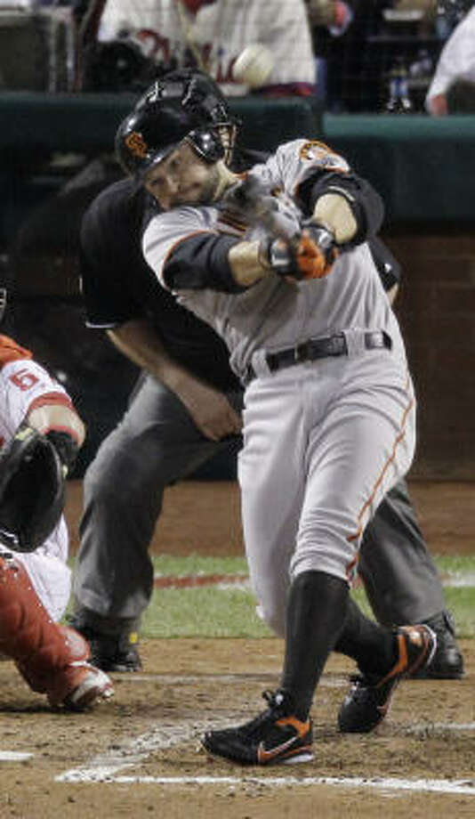 San Francisco's Cody Ross finished the night with two solo home runs. Photo: Eric Gay, AP