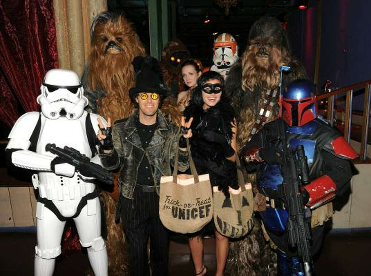 A number of other costumed socialites-- from this galaxy and beyond-- were there to celebrate.