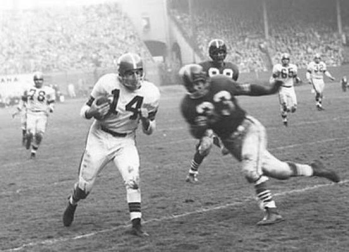 Hardy Brown, LB, 1948-1956, 1960 (AAFC Dodgers, Hornets; Colts, Redskins, 49ers, Cardinals, Broncos)