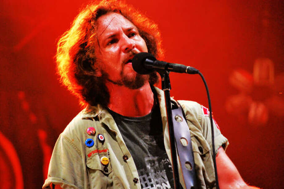 In 1992, Spin Magazine published an article by Pearl Jam lead singer Eddie Vedder, in which he explains why he supports women's right to choose abortion. Photo: LeeRoy Holmes, For The Chronicle