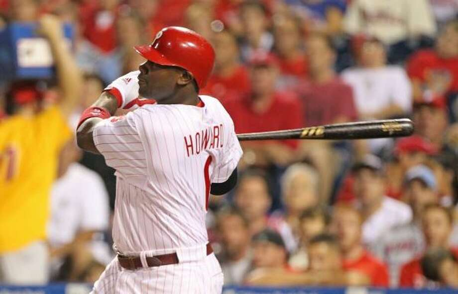 Phillies offense: 4.77 runs/game, 2nd in NLEdge: PhilliesThe Phillies' offense, led by Ryan Howard, is among the most frustrating in the game. Week 1, they looked like nobody could stop their run to 1,000 runs. But they are capable of stretches like their 0-4 home series against the Astros when they scored seven runs and an 0-3 series in New York when they didn't score at all. Still a scary and superior unit. Photo: Hunter Martin, Getty Images