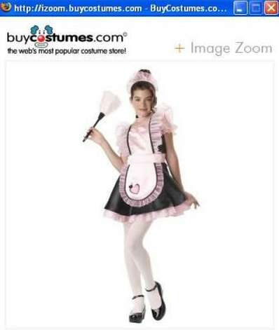 The maid costume is a popular sexy costume for adults. It now is sold for kids. Photo: Www.buycostumes.com