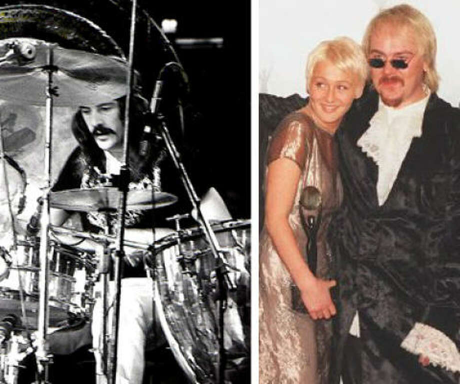 Jason Bonham (shown with sister Zoe) is doing a tribute tour to late father, Led Zeppelin drummer John Bonham. The tour stops in Houston on Nov 17.  Flickr photo of John Bonham provided by Dina Regine. Photo: Flickr/AP