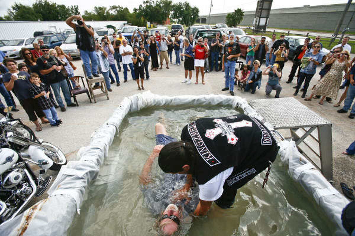 Last month, the group held their first baptisms, welcoming