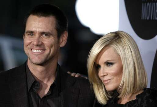 Jim Carrey, left, and Jenny McCarthy seemed to handle their breakup fairly well. The couple had been together for 5 years. Photo: Matt Sayles, AP