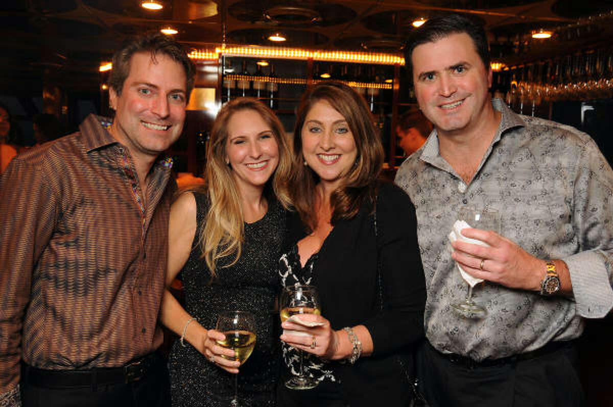 From left: Rick and Kristin Brice with Donna and Clay Jeansonne at the second annual Texas Children's Cancer Center Casino Night Cruise in Kemah.
