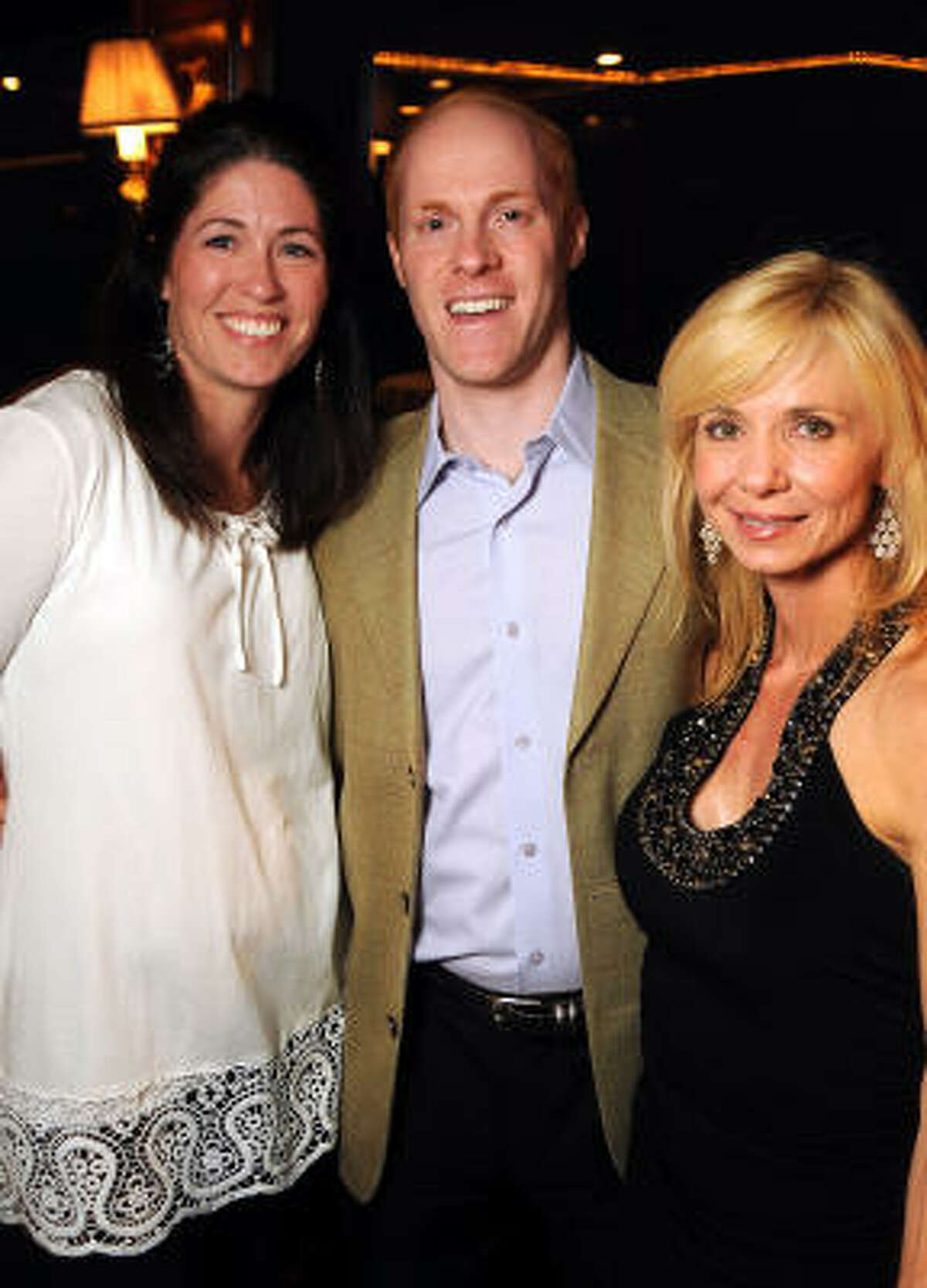 Juli and Craig Lande with Paula Beasley