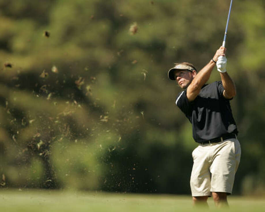 Oct. 9: second round Kip Guidry fired a 4-under 67 Saturday at Memorial Park Golf Course to take a two-shot lead into Sunday's final round. Photo: ERIC CHRISTIAN SMITH, For The Chronicle