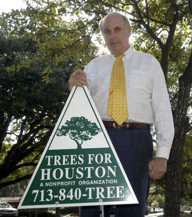 Bill Coats, co-founder of Trees for Houston, was a tireless advocate, friends say. He died of cancer at age 69. Photo: Kim Christensen, Chronicle