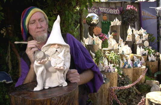 Don White, the wizard behind the White Wizards, creates a new sculpture. Photo: Brett Coomer, Texas Renaissance Festival