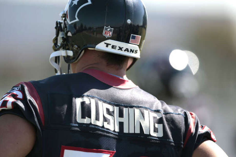 Cushing watches the action. Photo: Billy Smith II, Chronicle