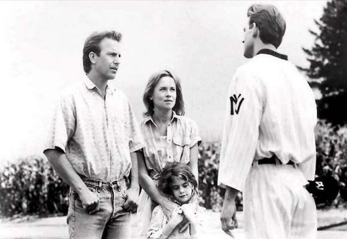 Field of Dreams (1989, Kevin Costner) was about an Iowa farmer who builds baseball diamond after hearing mysterious voices.