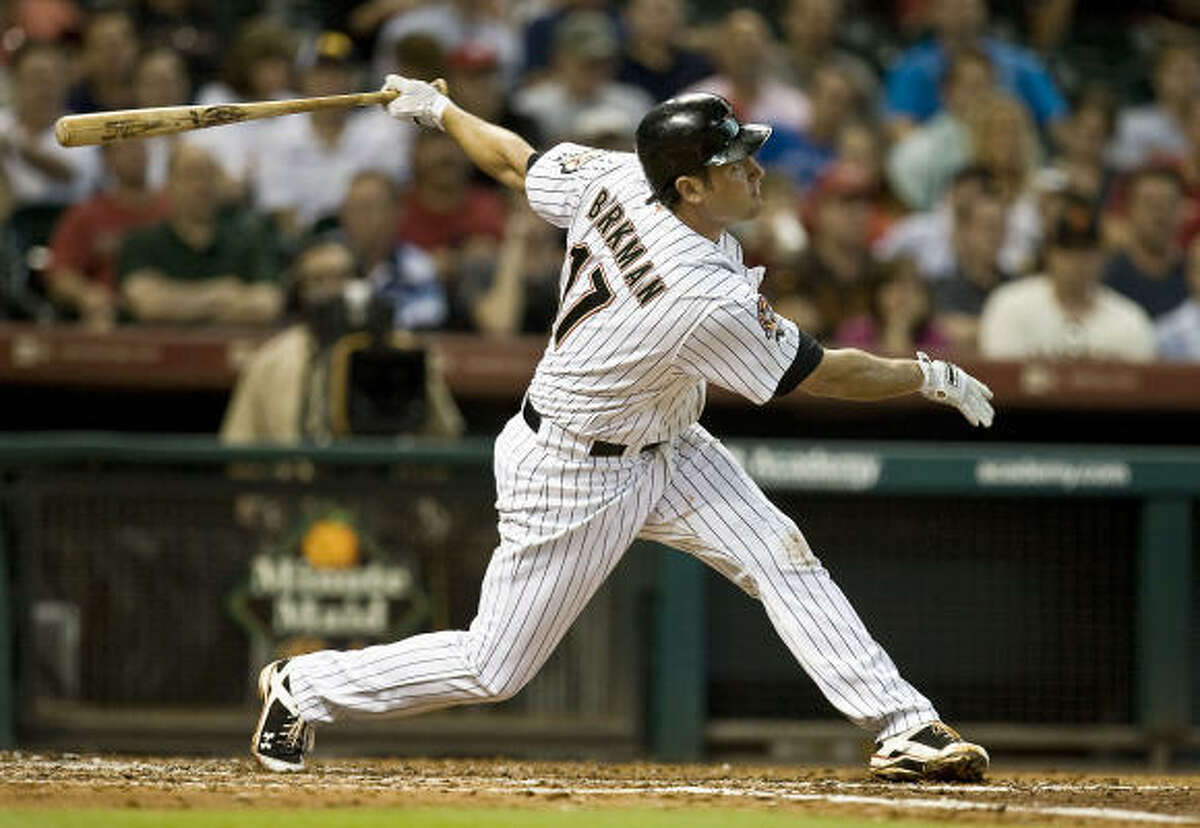 POSITION PLAYERS Lance Berkman: C+ .245 batting average/.372 on-base percentage/.436 slugging percentage, 13 HRs, 49 RBI with Astros Was never quite the Berkman of old after surgery. Fitting final act is that he led the Astros in walks despite playing just 85 games.