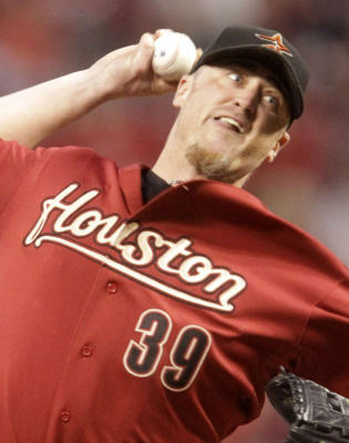Astros starter Brett Myers was roughed up for eight runs in 5 2/3 innings, picking up the loss to finish the season 14-8. The loss snapped his 32-start streak of going six innings or more.
