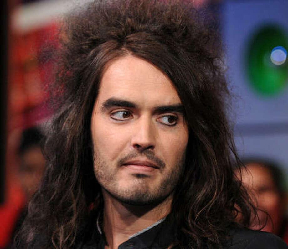 Russell Brand often appears onstage and off with heavy guyliner. Photo: Bryan Bedder, Getty Images
