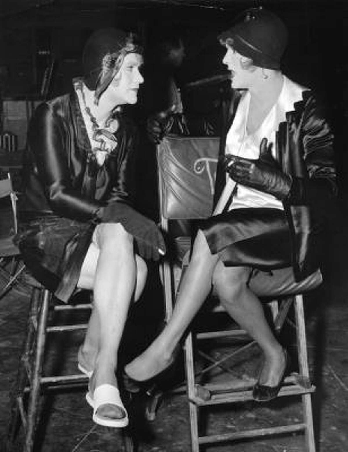 In a 1959 file photo Jack Lemmon, left, and Tony Curtis are in costume as women for the film