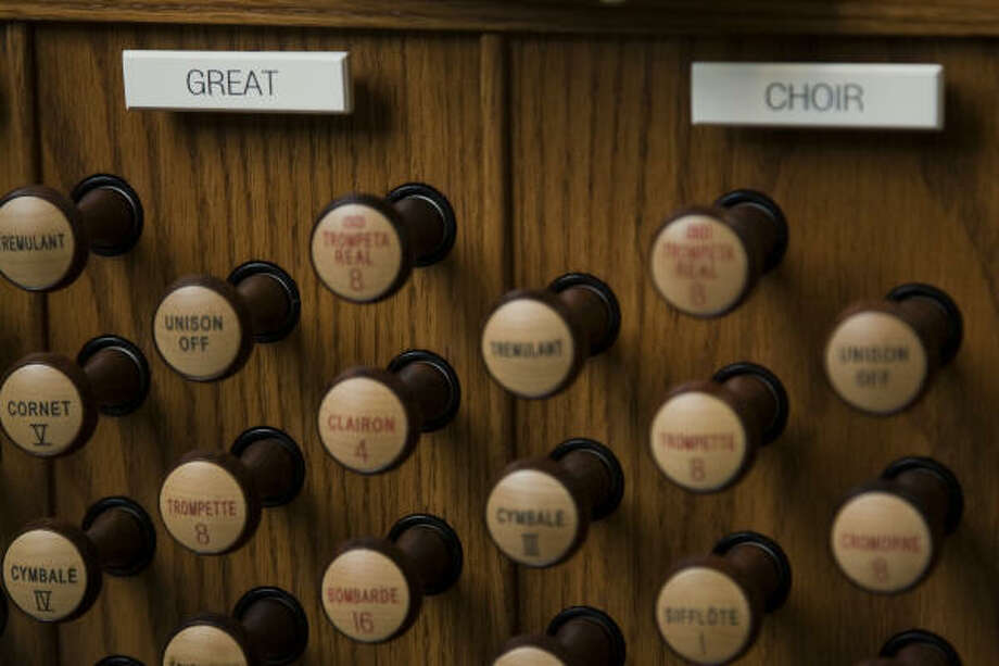 The digital organ will be replaced in 2010 by a pipe organ. Photo: Smiley N. Pool, Chronicle
