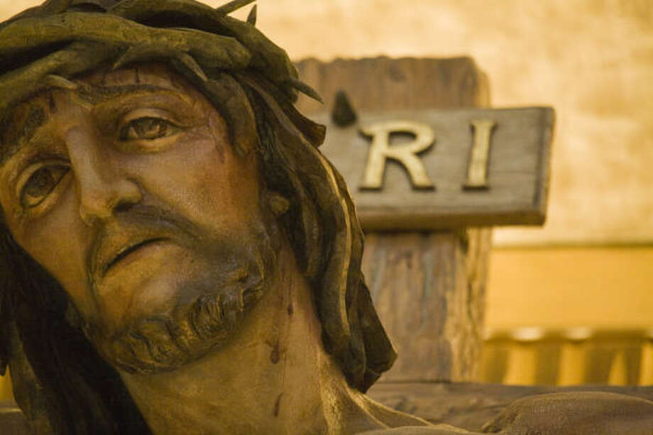 The face of Jesus from the crucifix. Photo: Smiley N. Pool, Chronicle
