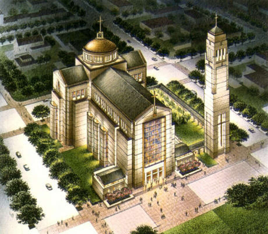 This rendering, designed by Ziegler Cooper Architects of Houston, shows a plan for the Co-Cathedral of the Sacred Heart. Photo: Ziegler Cooper Architects