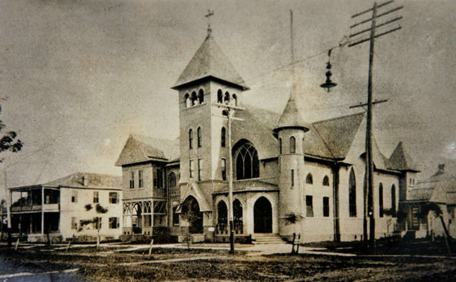 Sacred Heart Catholic Church in about 1904. The church was named the co-cathedral in 1959. Photo: Photo Courtesy Of The Archdioces