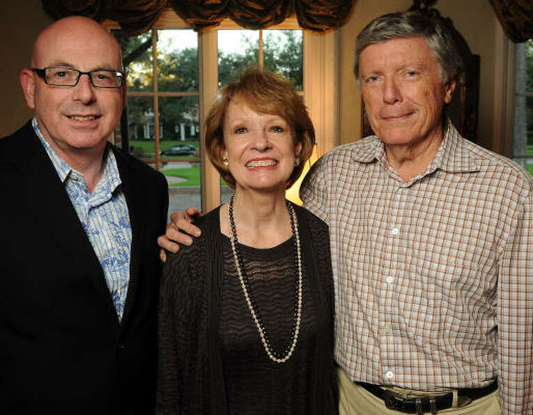 From left: Colin Ure with Sandy and Lee Godfrey