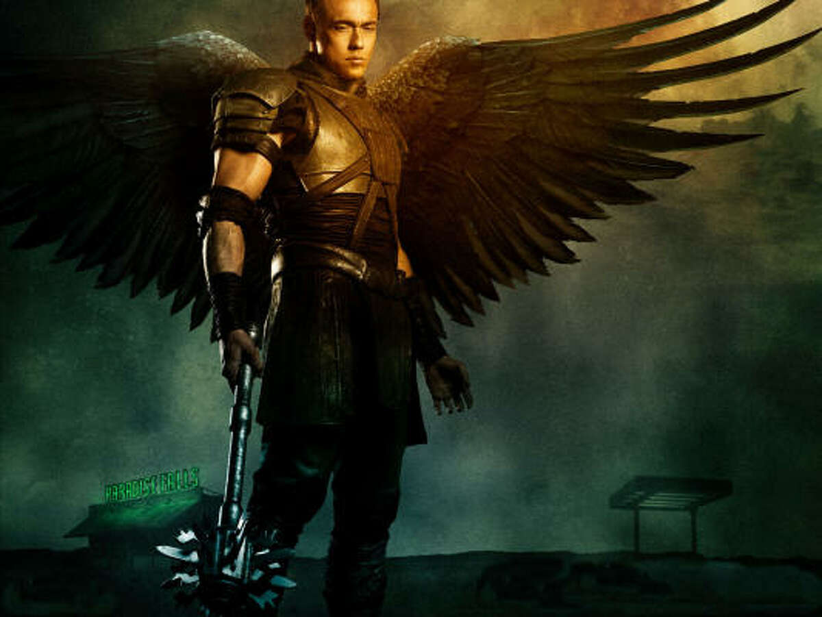 The archangel Gabriel is played by Kevin Durand.