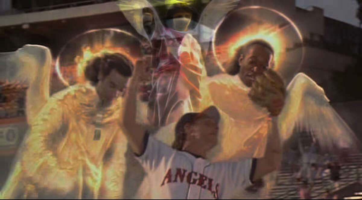 In Angels in the Outfield, heavenly beings help the desperate California Angels win the pennant.