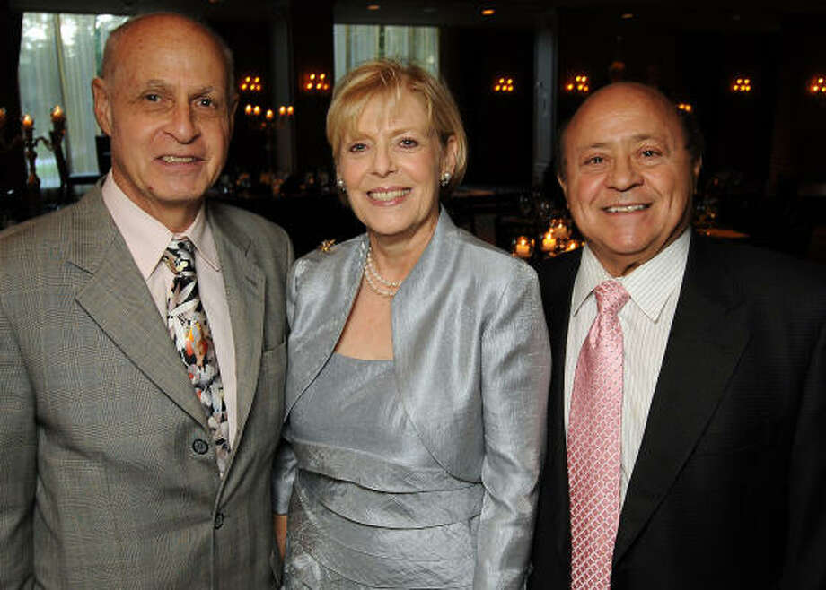 From left: Dr. Joseph Agris, Ann Kasman and Frank Dimarie Photo: Dave Rossman, For The Chronicle