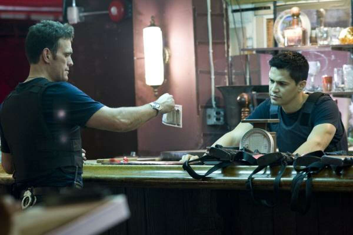 Takers, $1.7 million: Buddies plan to rip off an armored car. Starring Matt Dillon, left, and Jay Hernandez.