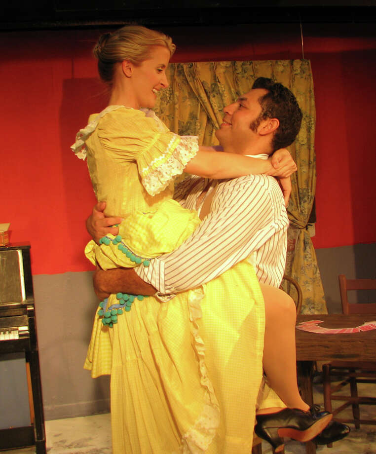 "Stephanie Bumgarner and Robert Jerdee star in ""Wild Oats."" COURTESY SAN PEDRO PLAYHOUSE"