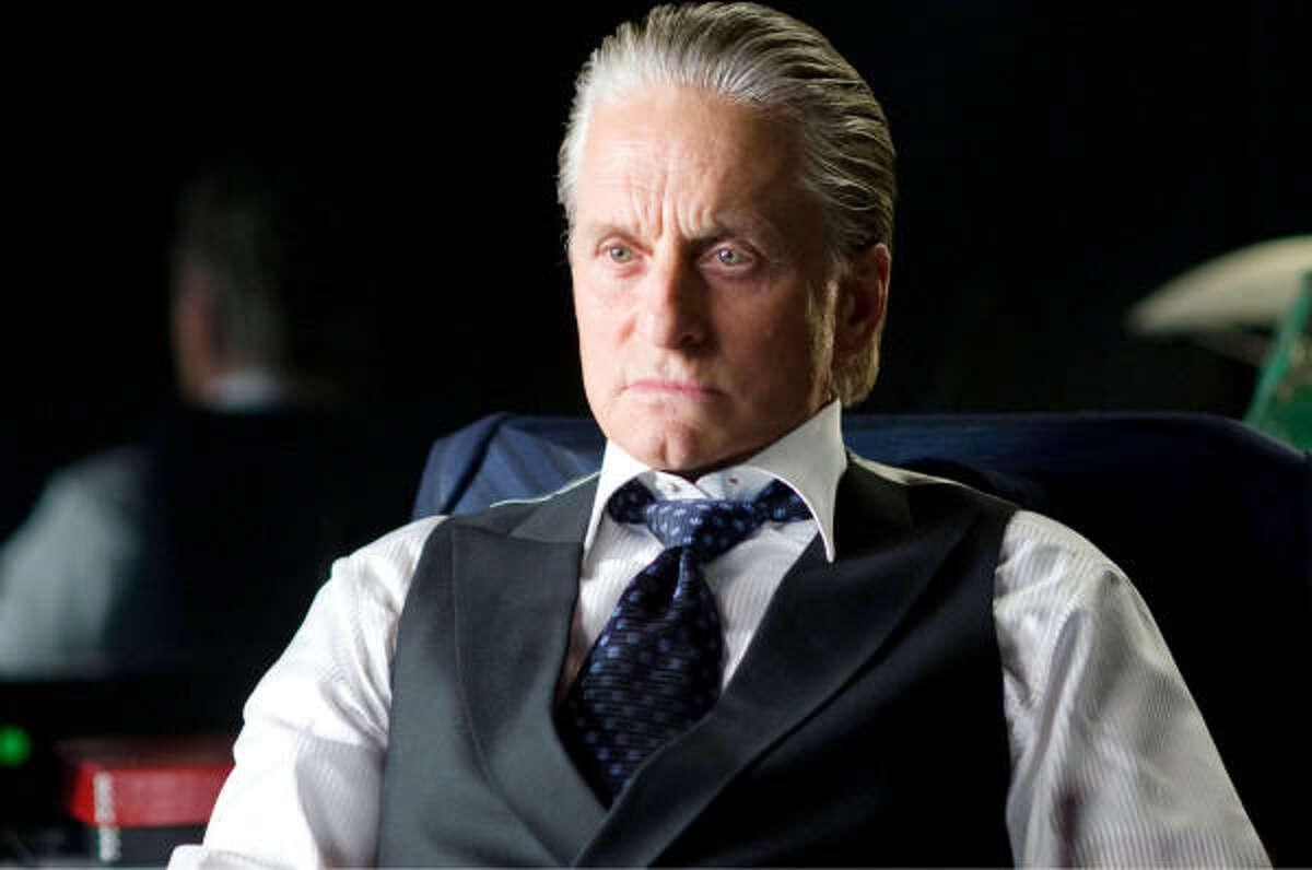 Michael Douglas reprises his Oscar-winning role of Gordon Gekko in Wall Street 2: Money Never Sleeps (2010).