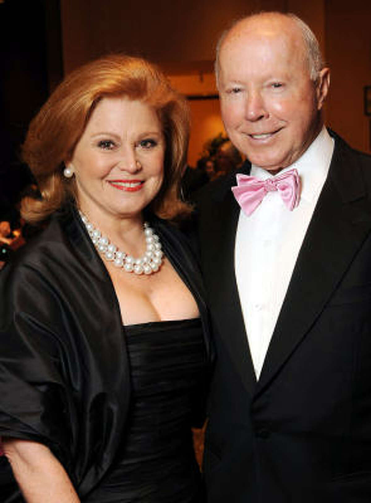 Jan and the late Dan Duncan attend the Pink Tie Gala in March. Children Dannine Avara, Scott Duncan, Milane Frantz and Randa Williams tied at No. 101 on the Forbes list. (Their photos were unavailable.)