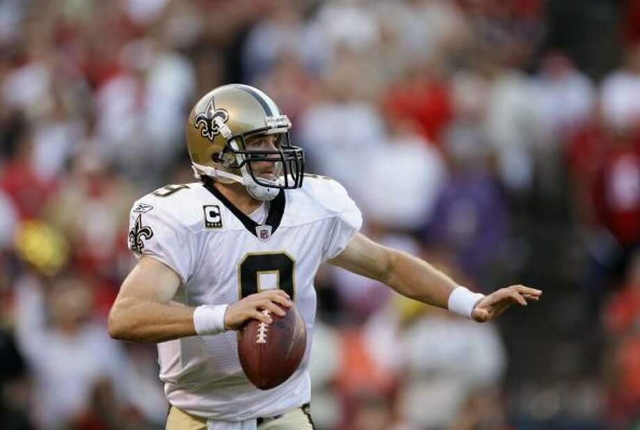 Sept. 20: Saints 25, 49ers 22Saints quarterback Drew Brees completed 28 of 38 passes for 254 yards and two touchdowns. Photo: Ezra Shaw, Getty Images