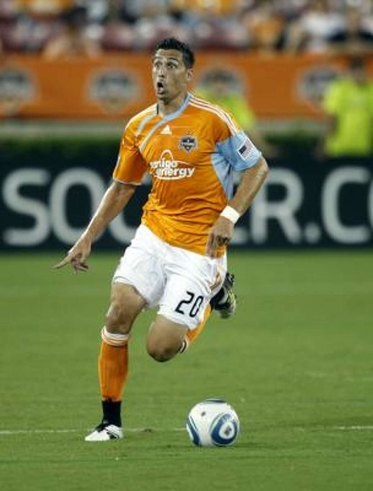 Sept. 18: Toronto FC 2, Dynamo 1 Dynamo midfielder Geoff Cameron brings the ball up the field against Toronto FC.