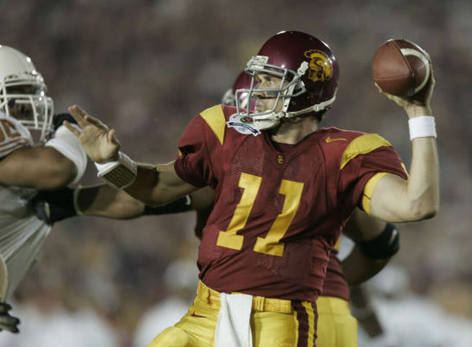 9. Matt Leinart, QB, Southern Cal, 2004Leinart had so many other stars at his disposal: Reggie Bush, LenDale White, Steve Smith and Dwayne Jarrett. Adrian Peterson was the runner-up that season as a freshman. Being a frosh surely didn't help Peterson. Nor did White finishing third and pulling some of the Oklahoma vote away from Peterson. Photo: Brett Coomer, Chronicle