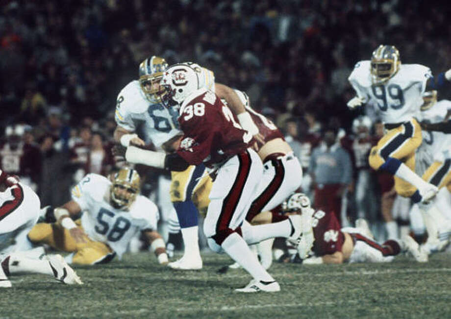 8. George Rogers, RB, South Carolina, 1980Rogers was a standout college running back and ran for 1,781 yards, but Herschel Walker was a freshman at Georgia in 1980 and just as good. He finished third in voting behind the guy who really should have won it: Pitt defensive end Hugh Green, the Ndamukong Suh of his time. Photo: Florida Times Union