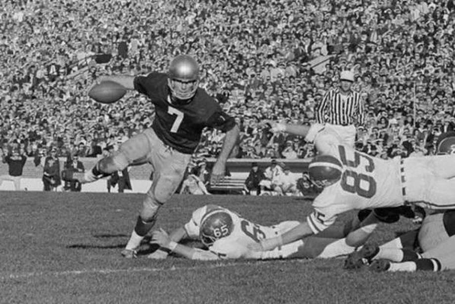 6. John Huarte, QB, Notre Dame, 1964Considering the era, Huarte's numbers were good: 2,062 yards and 16 touchdown passes for a Notre Dame team that went 9-1. But the guy who finished third, you might have heard of him: Illinois linebacker Dick Butkus.