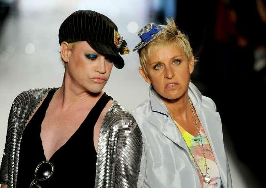 Comedian Ellen Degeneres even walked the runway alongside designer Richie Rich. Photo: Frazer Harrison, Getty Images For IMG