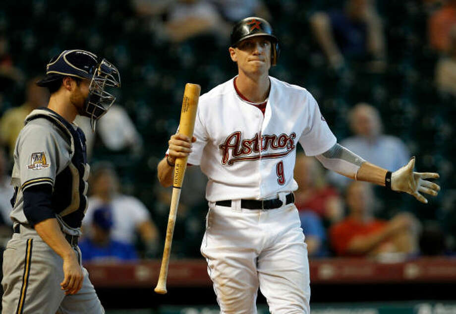 Sept. 15: Brewers 8, Astros 6 (10 inn.) Hunter Pence struck out swinging to end the game. Photo: Melissa Phillip, Chronicle