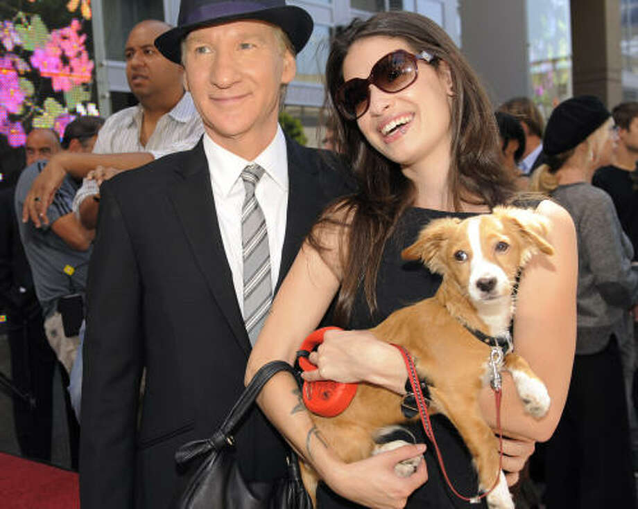 Bill Maher and Kille. Photo: Chris Pizzello, AP