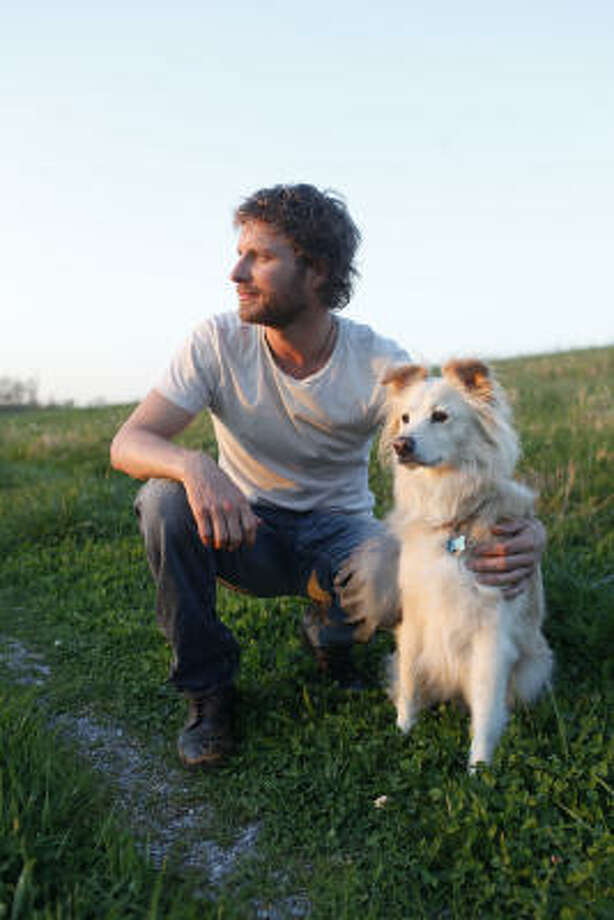 Dierks Bentley and Jake. Photo: Josh Anderson, AP