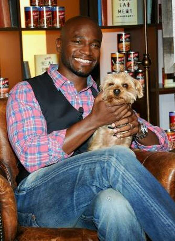 Taye Diggs and Sammy. Photo: Jamie McCarthy, Getty Images For Alpo